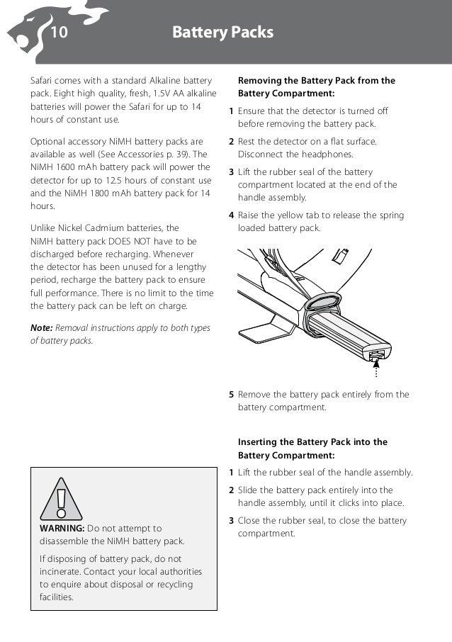Safari minelab инструкция