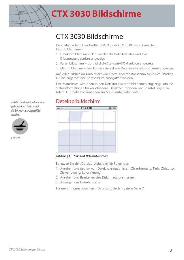 3 CTX 3030 Bildschirme CTX 3030 Bedienungsanleitung CTX 3030 Bildschirme Die grafische Benutzeroberfläche (GBO) des CTX 30...