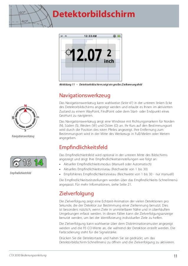 11 Detektorbildschirm CTX 3030 Bedienungsanleitung Abbildung 11 – Detektorbildschirm zeigt ein großes Zielkennungsfeld N...