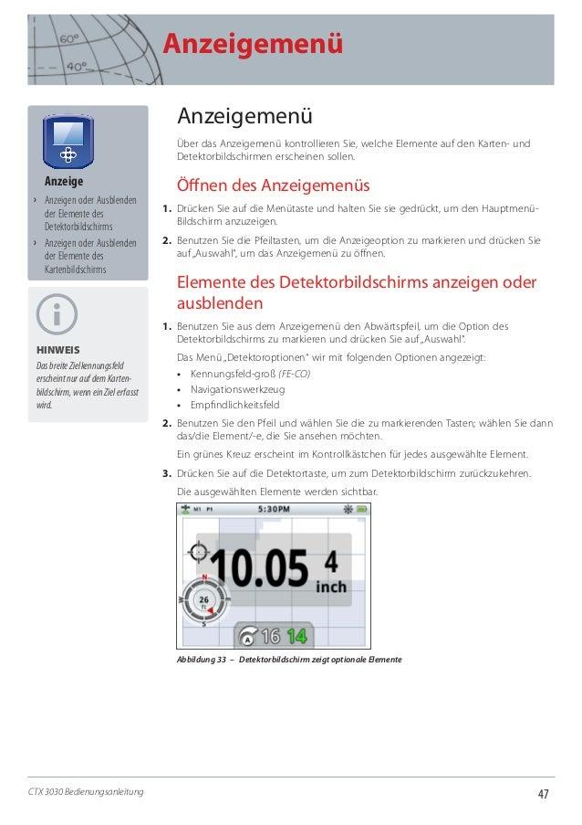 Instruction Manual Minelab CTX 3030 Metal Detector German Language de4901 0122-2