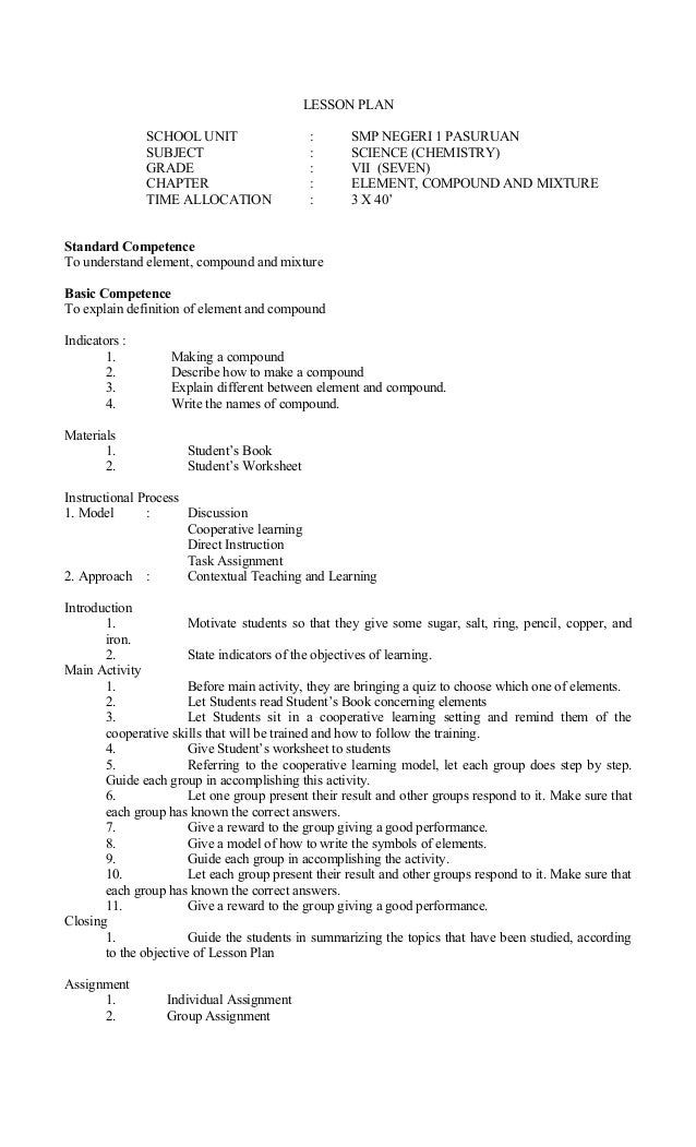 Sample lesson plan in english for grade 7