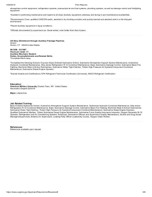 Federal Resume Adam Smith