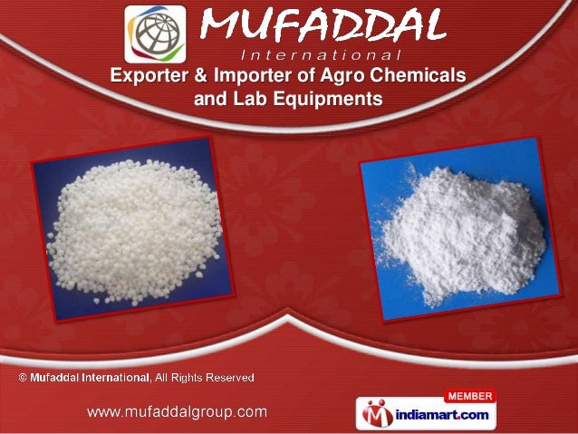 Exporter & Importer of Agro Chemicals and Lab Equipments