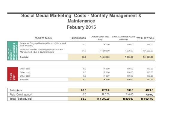 Social Media Marketing Strategy - Project Development Monthly Managem…