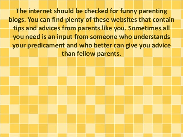 How Reading Funny Parenting Blogs Can Help Slide 2