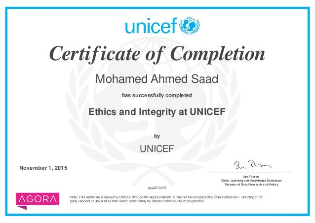 ethics and integritycourse certificate ethics and