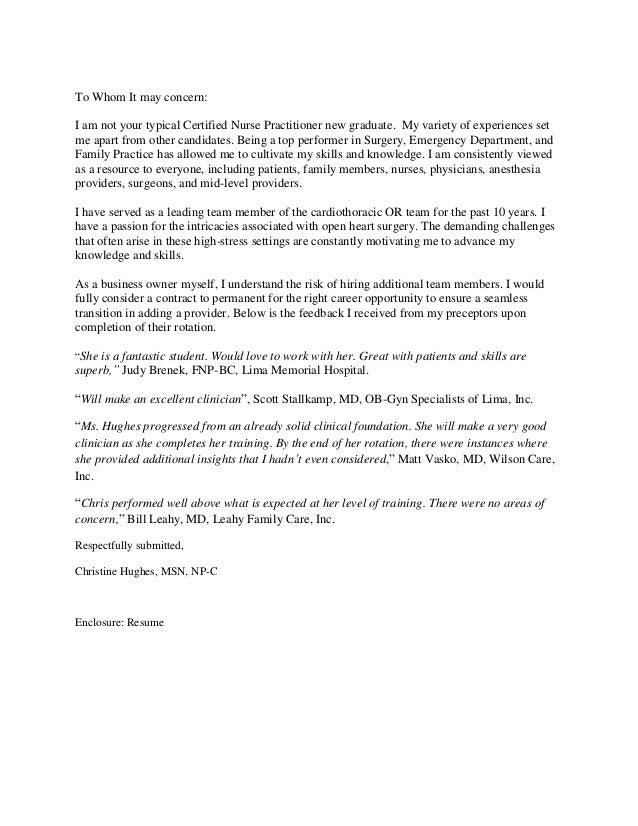 Christine Hughes Cover Letter