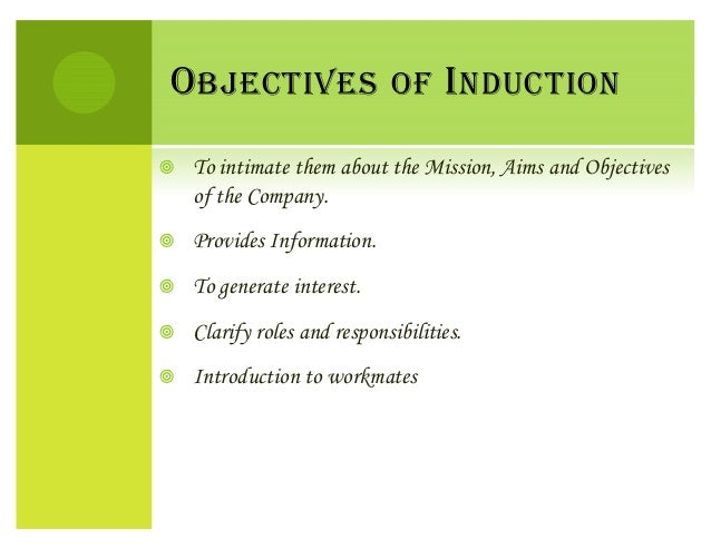 induction and orientation in hrm