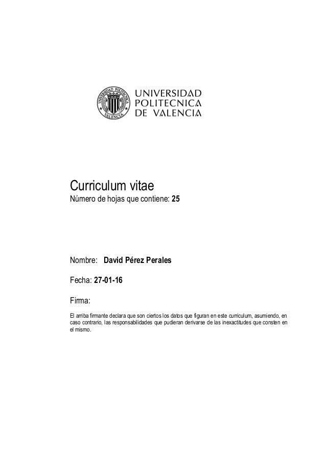 Curriculum vitae detallado
