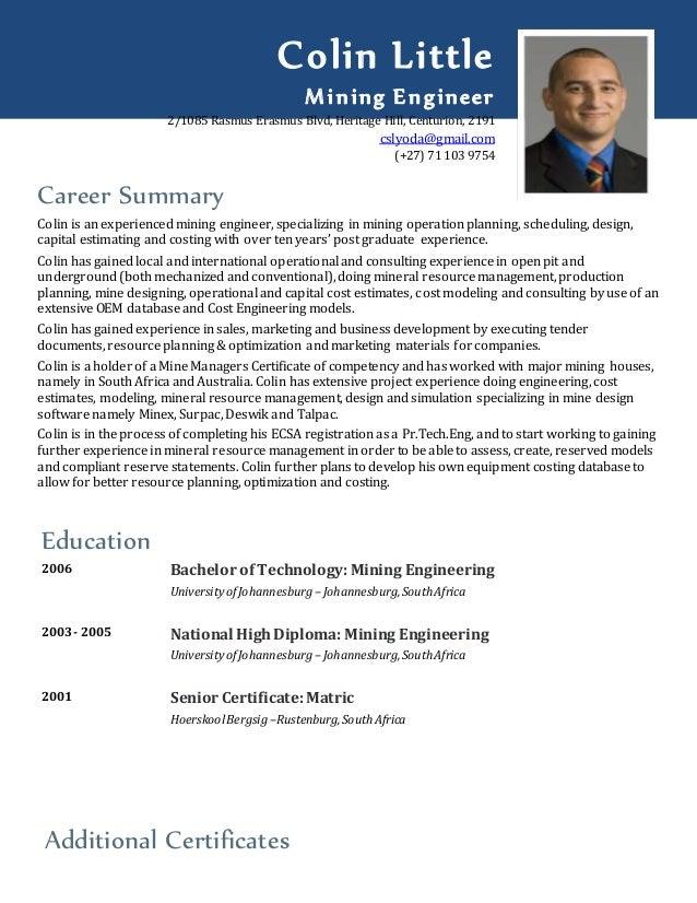 resume mining