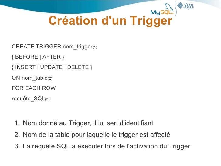 Introduction Aux Triggers Avec Mysql