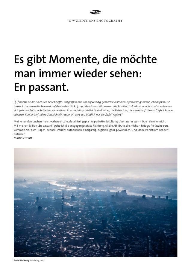 """Es gibt Momente, die möchte man immer wieder sehen: En passant. """"[...] unklar bleibt, ob es sich bei Zitzlaffs Fotografien..."""