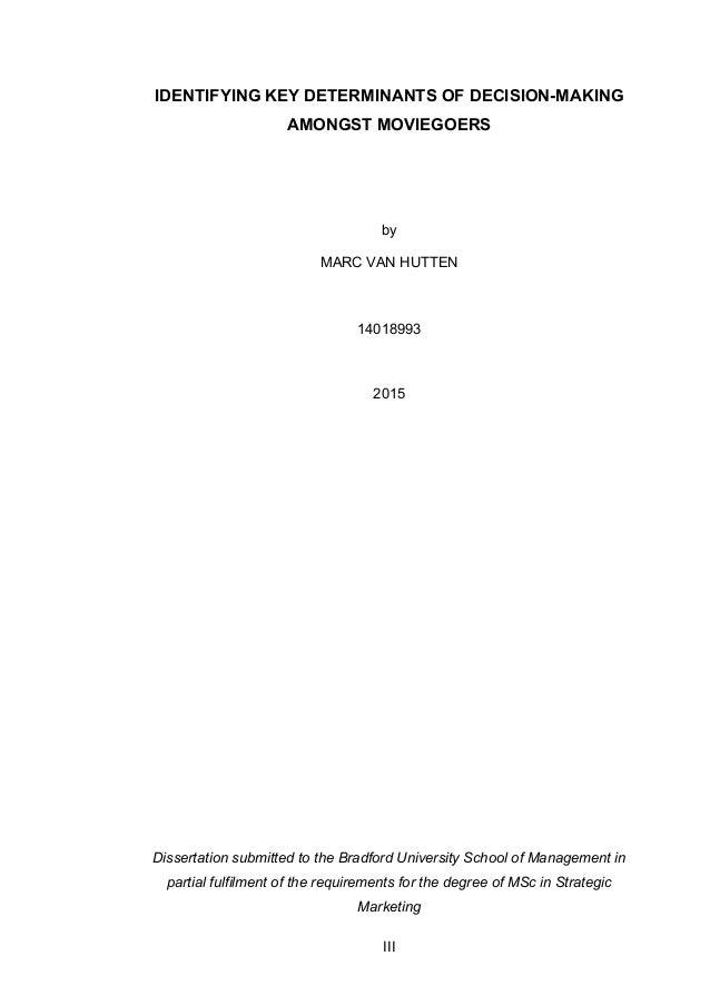 Adaptation dissertation strategic