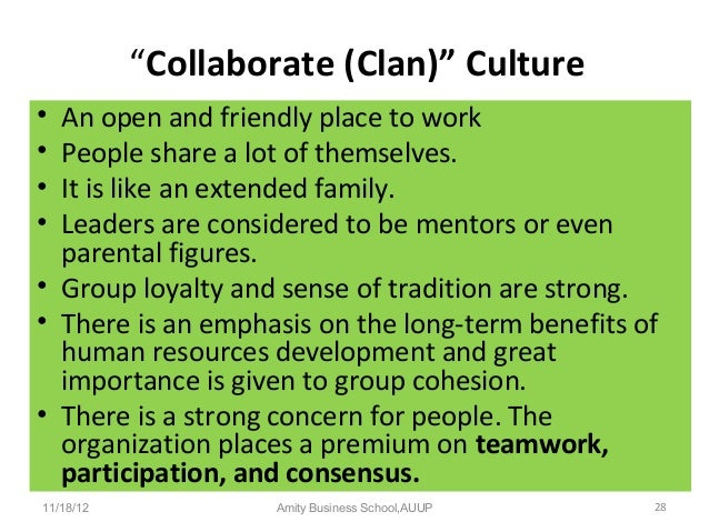 clan culture definition