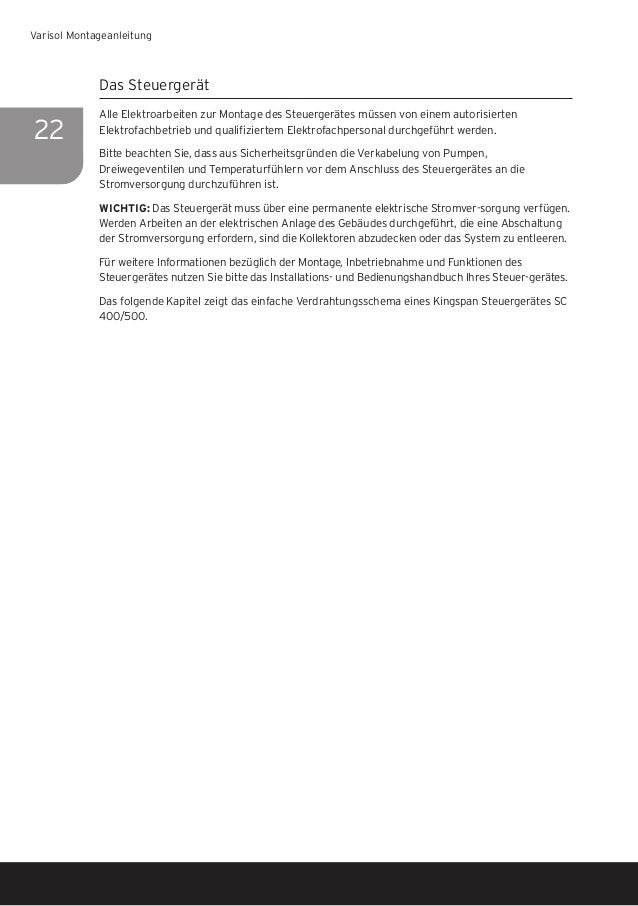Kingspan SOLAR Varisol Montageanleitung