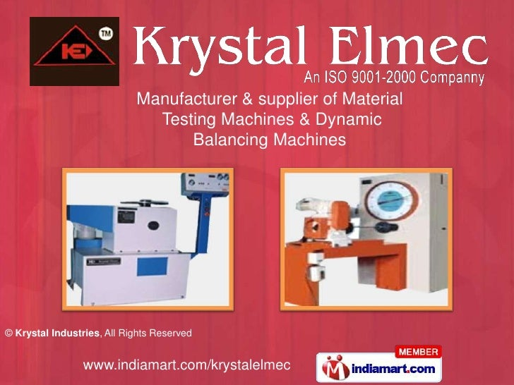 Manufacturer & supplier of Material                              Testing Machines & Dynamic                               ...