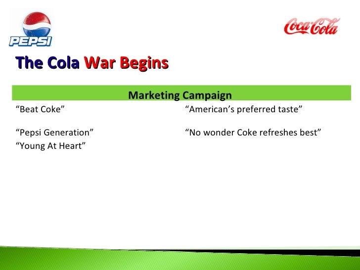 Cola wars continued coke vs