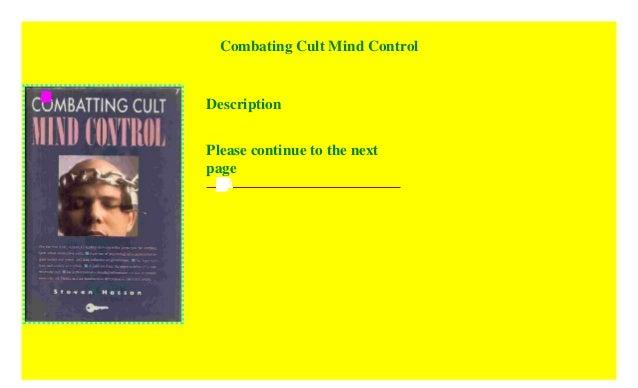 Combatting Cult Mind Control Pdf