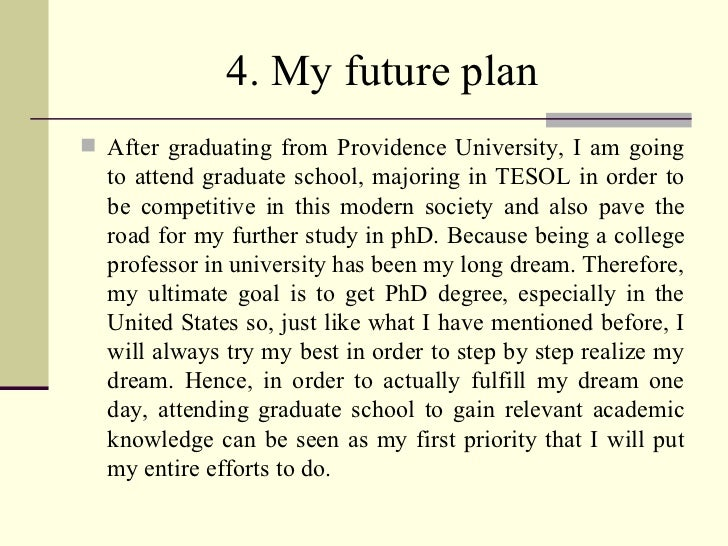 My future plans essay