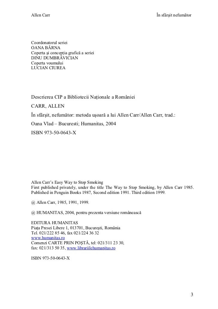 in sfarsit nefumator carte pdf