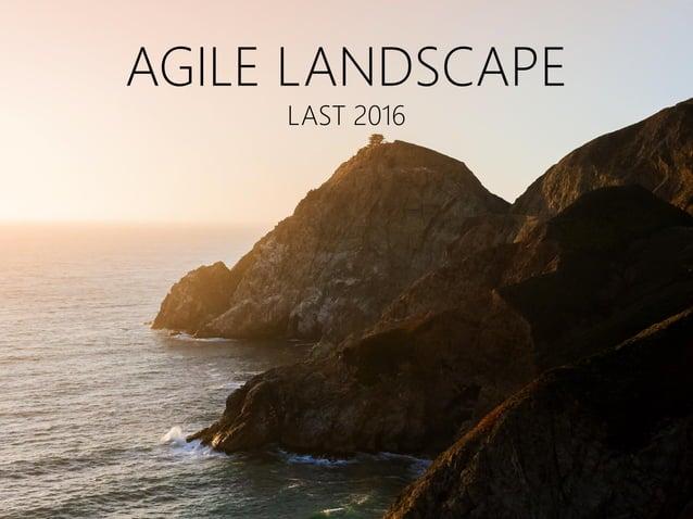 AGILE LANDSCAPE LAST 2016