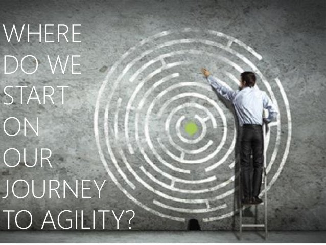 WHERE DO WE START ON OUR JOURNEY TO AGILITY?
