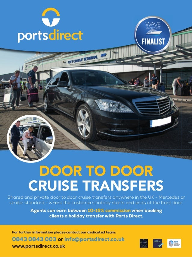 Shared and private door to door cruise transfers anywhere in the UK - Mercedes or similar standard - where the customers h...