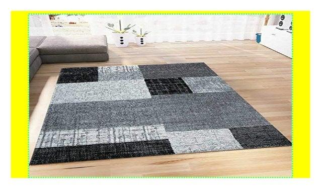 Teppich Wohnzimmer Kurzflor Designer Teppiche in Schwarz ...