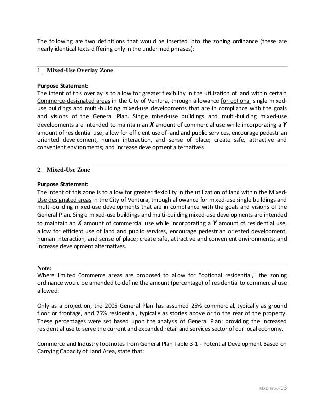 ATTACHMENT A - Mixed Use Recommendations Ventura_sample with