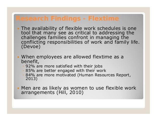 Flexible work schedule essay