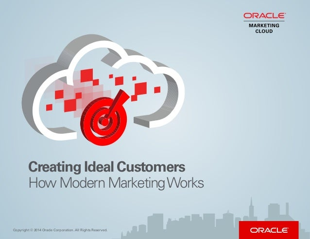 Creating Ideal Customers How Modern MarketingWorks Copyright © 2014 Oracle Corporation. All Rights Reserved.