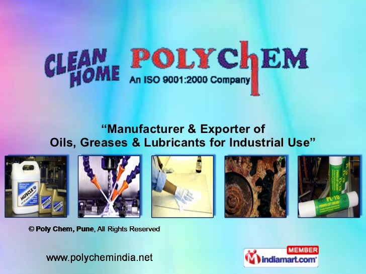 """"""" Manufacturer & Exporter of Oils, Greases & Lubricants for Industrial Use"""""""