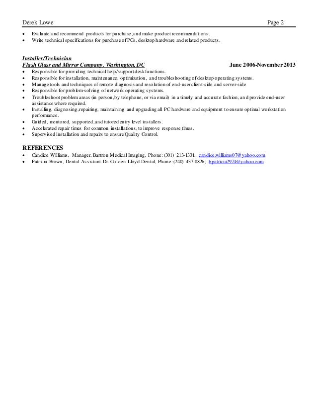 Derek Lowe Resume.docx has been shared with you. Slide 2