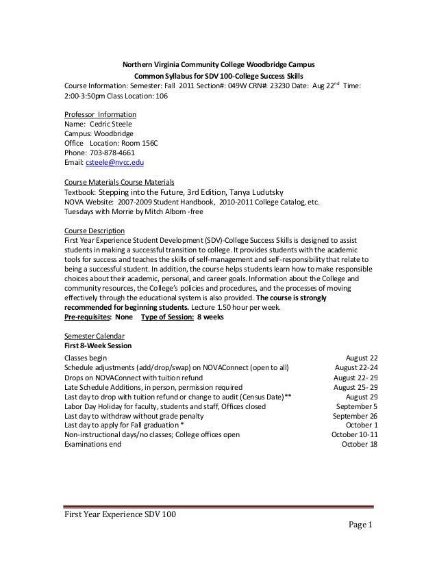 Sdv 10049wfall 2012 8 Weekfye Section Class Syllabuswork In Progr