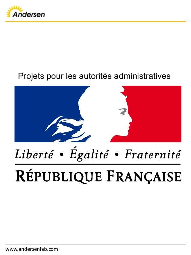 www.andersenlab.com Projets pour les autorités administratives