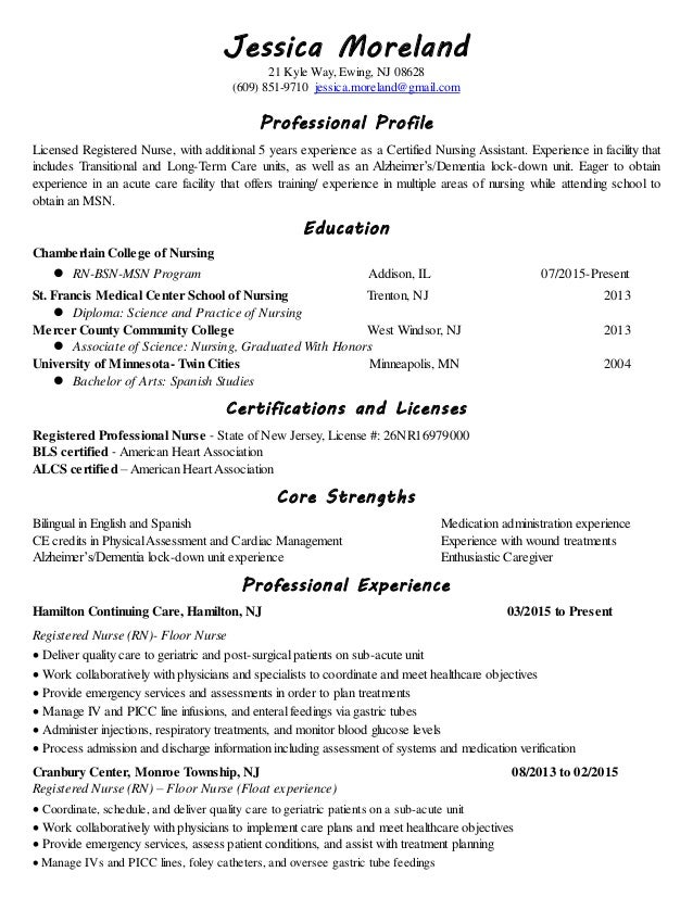geriatric nurse resume - Keni.candlecomfortzone.com