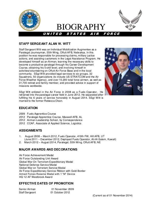 Witt - Military Bio