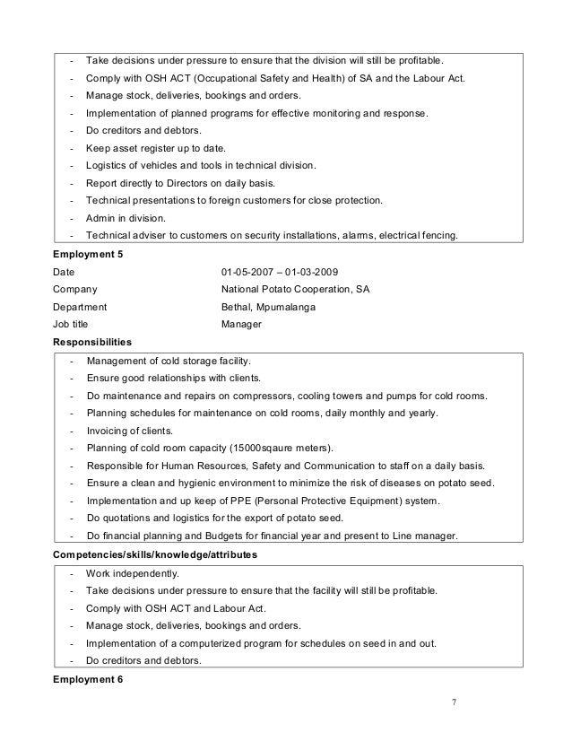 curriculum vitae  18 july 2016