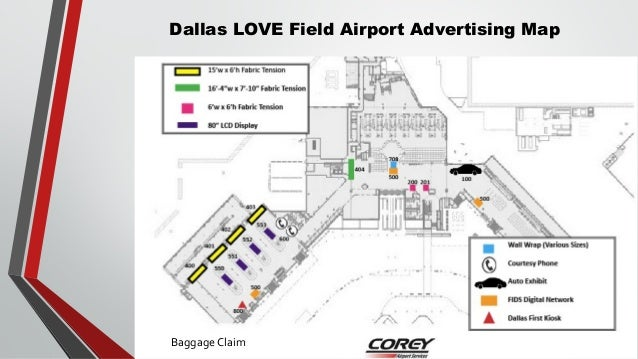 Amazing Dallas Love Field Terminal Map Galleries - Printable Map ...