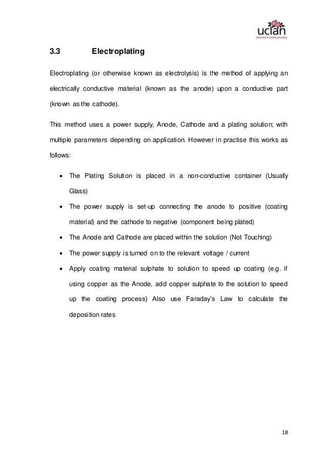 Final Report Functional Coatings for 3D Printed
