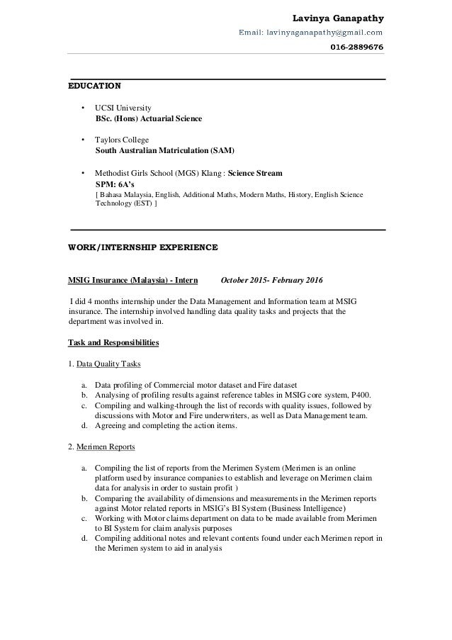 cv resume 2016 use - Actuary Resume