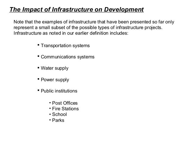 Role Of Infrastructure In Development 2