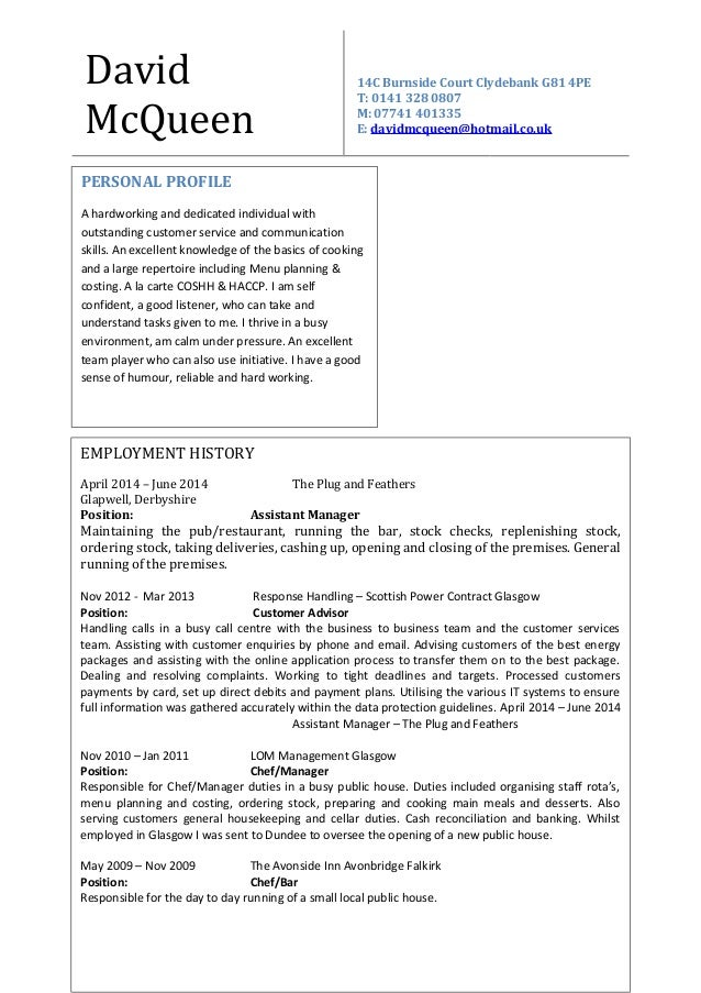 Charmant Bar Manager Lebenslauf Probe Bilder - Entry Level Resume ...