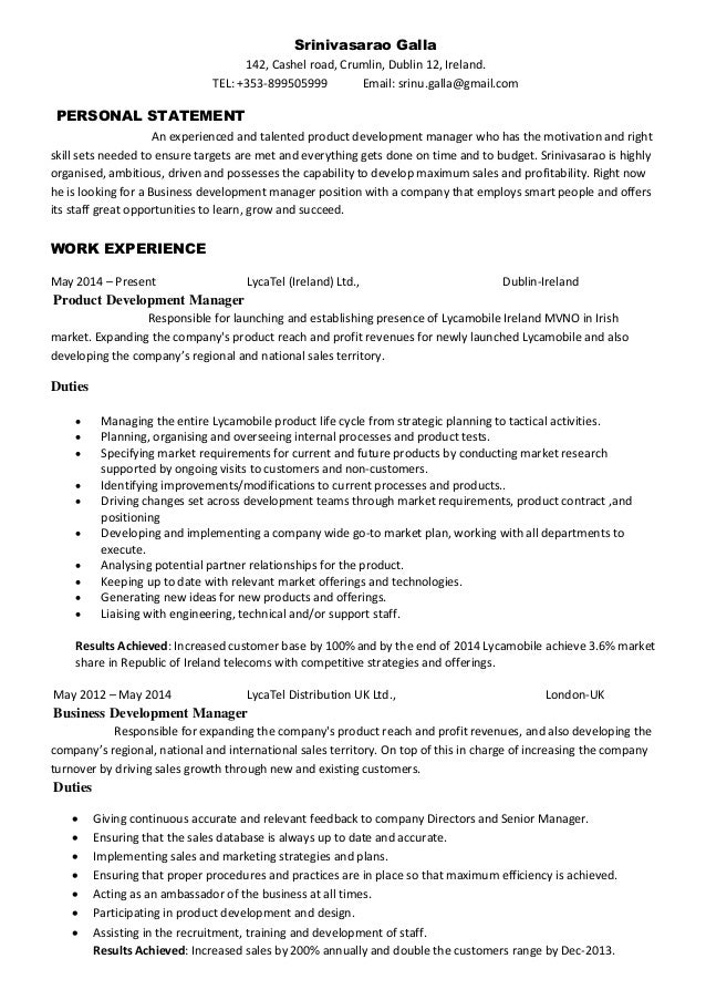 resume product development agimapeadosencolombiaco