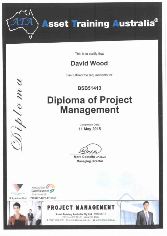 wood diploma of project management david wood diploma of project management