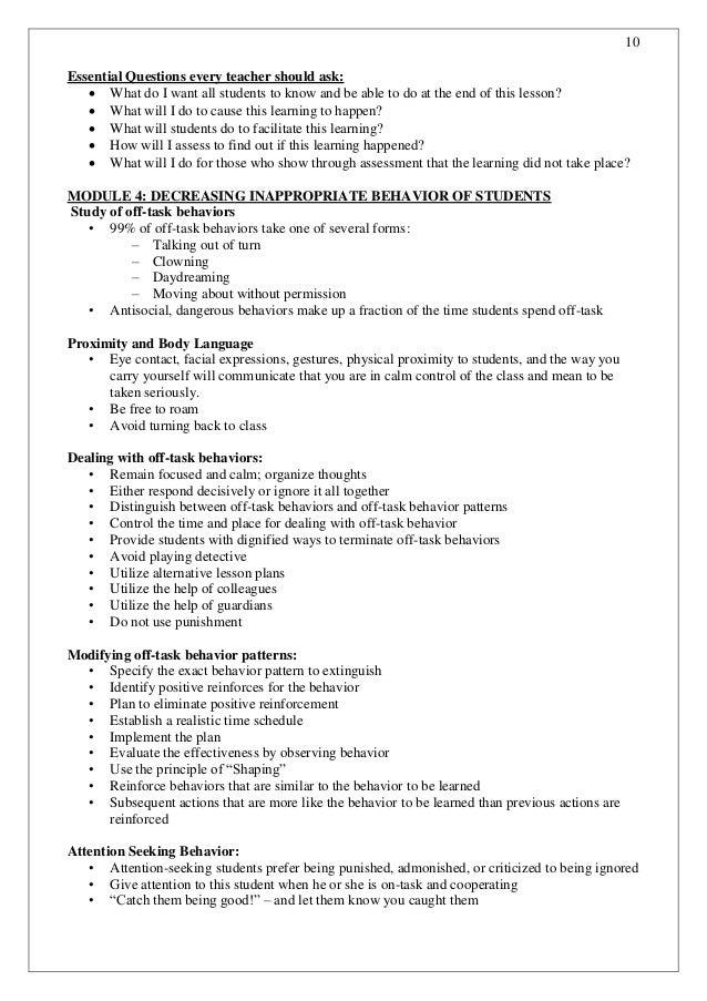 Classroom Design Questionnaire ~ Training for teachers