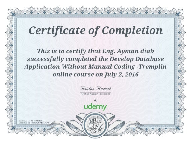 Develop Database Application Without Manual Coding -Tremplin