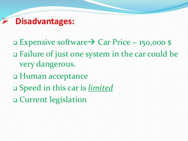 disadvantages of speed driving