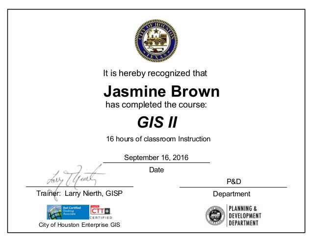 completion certificate gis ii slideshares proximos