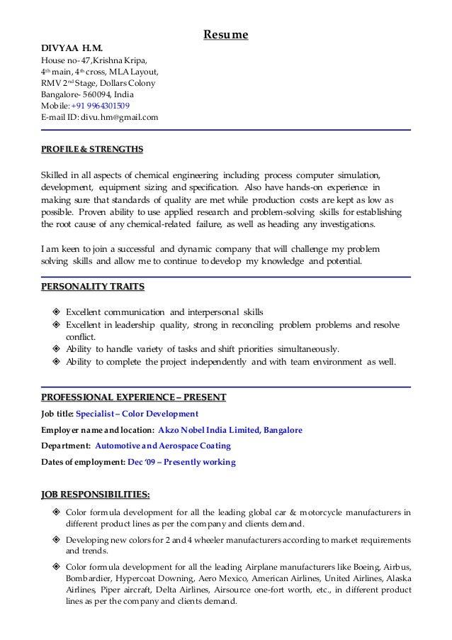 Divyaa HM Resume 2